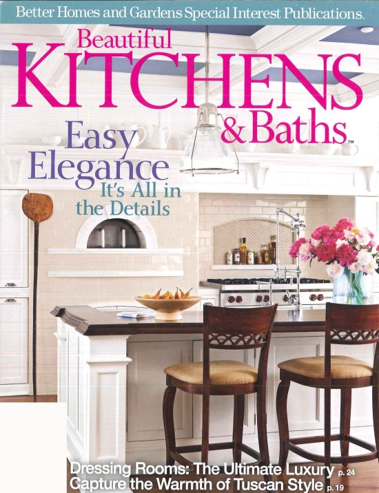 A kitchen designed by DEANE Inc is featured on the cover of Better Homes & Gardens Beautiful Kitchens special issue.
