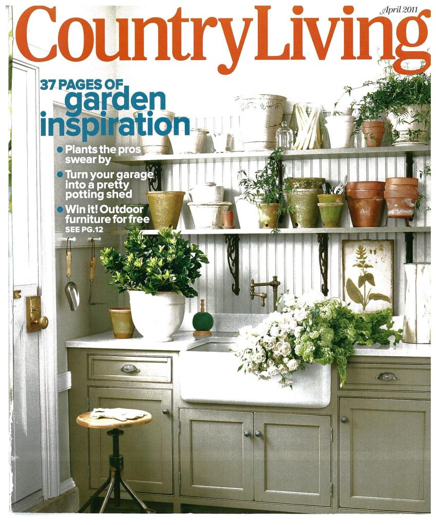 A bespoke potting shed by DEANE Inc on the cover of Country Living