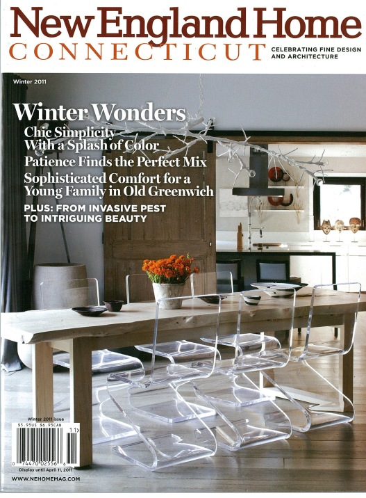 A room design by Claire Maestroni on the cover of New England Home
