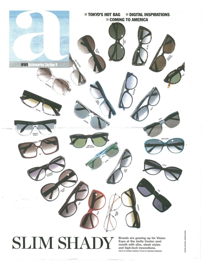 "Vision Expo makes the cover of WWD's ""a"" accessories issue."