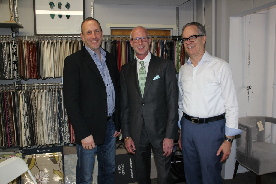 Kyle Hoepner -Editor in Chief -New England Home, Designer Jamie Drake, George Snead – Wakefield Design Center