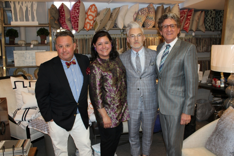 Kips Bay 40th Anniversary Author Steven Stolman, Liz King owner of The Linen Shop, Designers John Eason and Charles Pavarini III